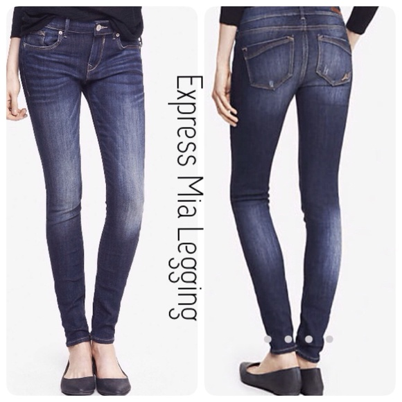 50% off Express Denim - MidRise Mia Jean Legging from ! nelly's ...
