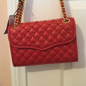 Rebecca Minkoff Red studded Mini quilted Affair