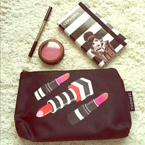 lipstick print Makeup Bag