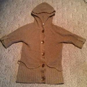 *FLASH SALE* Camel button sweater knit