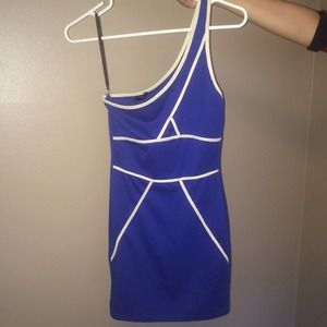 zinga Dresses & Skirts - Cobalt blue one strap dress