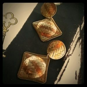Jewelry - Gold, silver and brass plated earrings