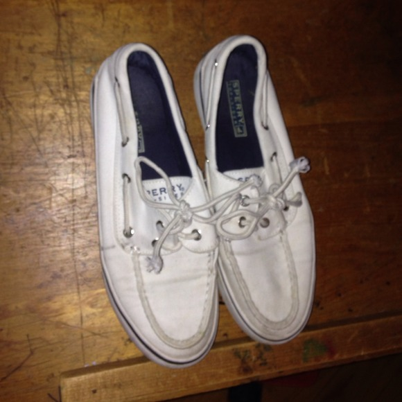 Sperry Shoes | White Canvas Sperrys