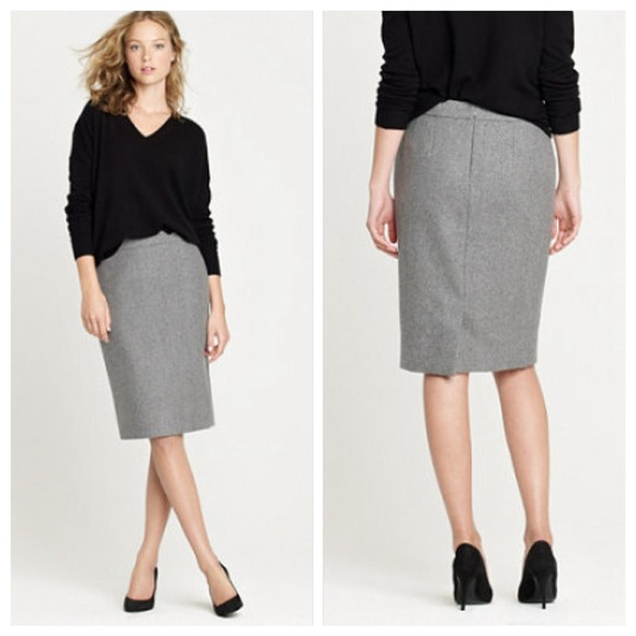 J. Crew - j. crew grey wool pencil skirt from Becka's closet on ...