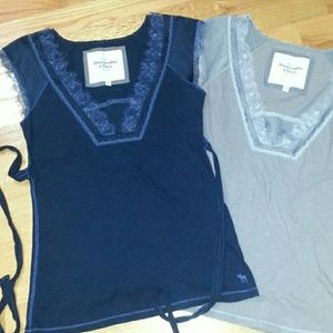 Abercrombie & Fitch Tops - Navy Lace Abercrombie Top