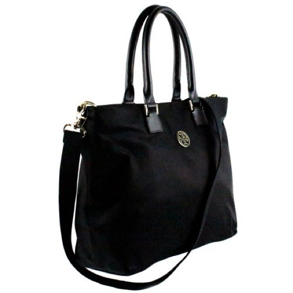 cd14550a02859 TORY BURCH NYLON DENA TOTE BLACK NWT PRICE IS FIRM NWT
