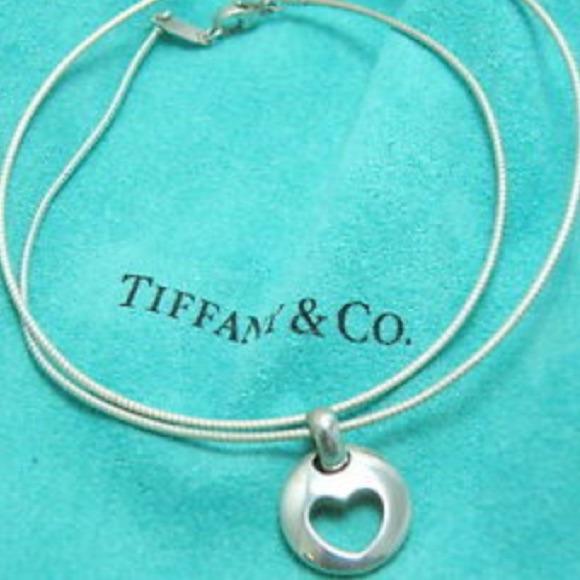 5d51b4995 Tiffany & Co. Jewelry | Tiffany Co Silver Heart Necklace | Poshmark