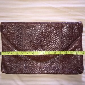 Leather Embossed Oversized Clutch