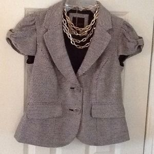 The Limited short sleeve tweed jacket