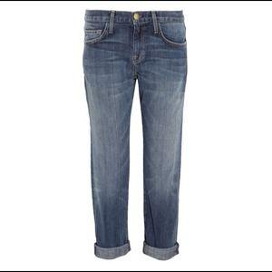 NWOT Current Elliot cropped boyfriend jeans