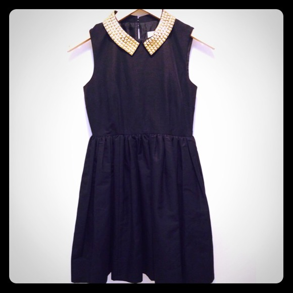 Kate Spade Dresses Laurence Dress Black Studded Collar