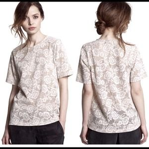 Donated. NWT lace top