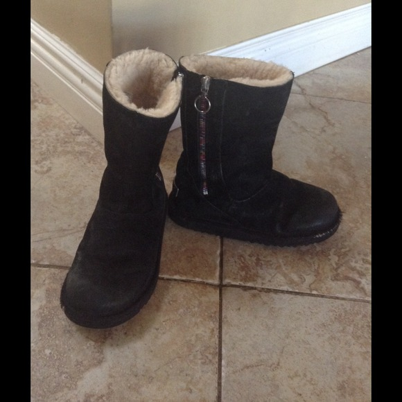 67 Off Ugg Boots Ugg Black With Multi Colored Side Zip