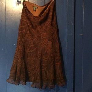 Skirt 100 percent silk by Ralph Lauren
