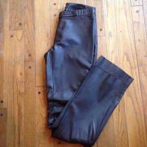 Laundry chocolate brown Leather pants