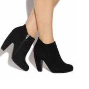 Black, Suede booties