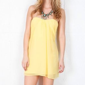 Keepsake Strapless Yellow Dress