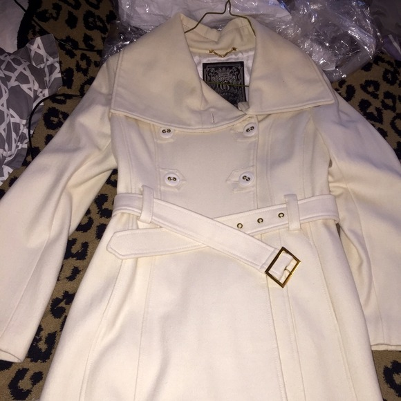 76% off Guess Jackets & Blazers - Guess cream color peacoat 🎀used ...