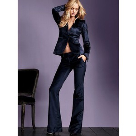 55% off Victoria's Secret Pants - VS Kate flare black velvet pants ...