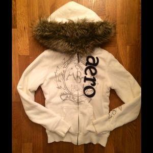 Aeropostle Fur Hoodie XS