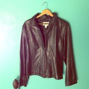 Worthington Black Genuine Leather Jacket - XL