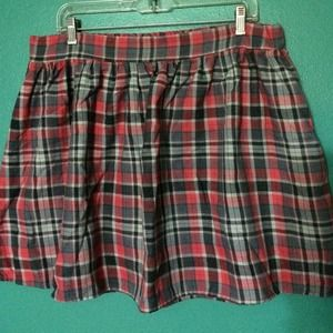 Wet Seal Dresses & Skirts - 🚫🚫SOLD 🚫🚫 Red Plaid Plus Size Skater Skirt