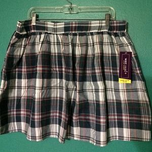 Wet Seal Dresses & Skirts - Blue Plaid Plus Size Skater Skirt