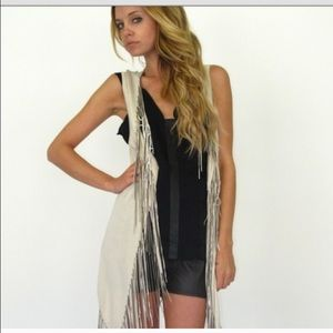 Spell & The Gypsy Collective Tops - cream fringe vest