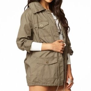 Forever 21 military jacket with removable hood