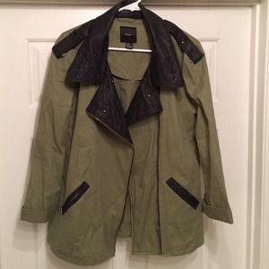 Forever 21 Outerwear - Military Jacket with Pleather Trim & Studs!