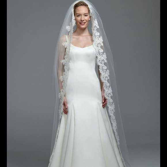 David's Bridal Cathedral Lace Embroidery