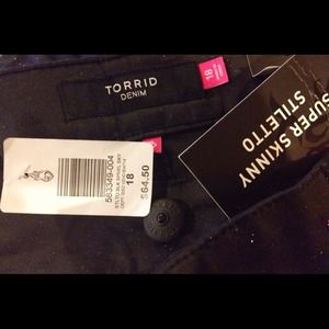 b032cf87912 torrid Jeans - Torrid Black Sparkle Stiletto Skinny Jeans