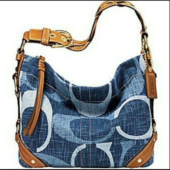 Coach Handbags - Coach Tonal C Denim Carly Shoulder Bag face9f3e5e13d