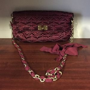 Lanvin burgundy handbag authentic