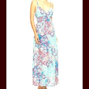 Floral Midi Maxi Cocktail Cape Tank Dress NWT
