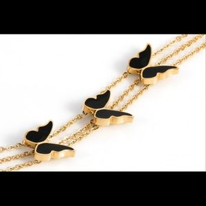 Cultured elegance butterfly bracelet