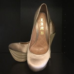 REDUCED L.A.M.B. Gold High Heels Make an offer