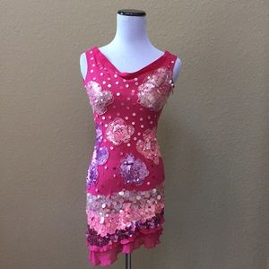 Marciano Dresses & Skirts - Marciano silk sequined dress