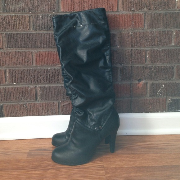 44e5af5a79c3 Call It Spring Shoes - Black leather boots from JCPenney