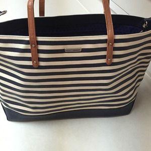 Rebecca minkoff tote stripe bag