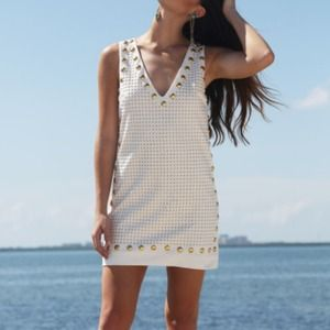 NWT Gold Stud Mini Dress by English Rose