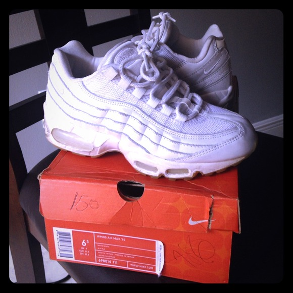 Nike air max '95 all white used