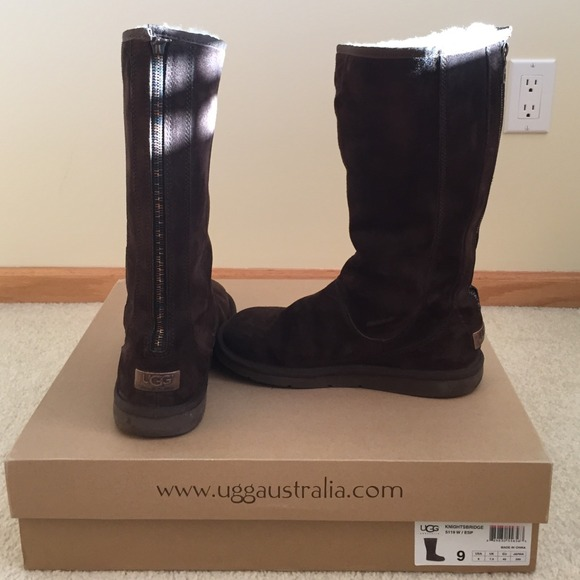 28d857b78bc Ugg chocolate brown tall zip back boot