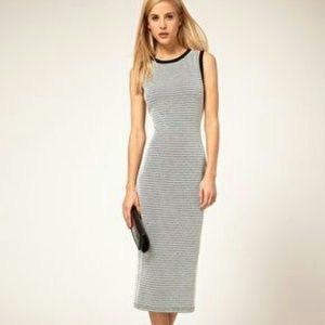 Asos Midi Pencil Dress in Monochrome