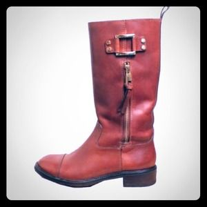Tory Burch Cognac midcalf leather tall boots 6.5