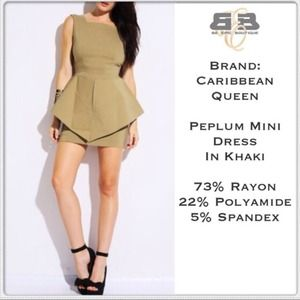 Dresses & Skirts - Peplum Mini Dress
