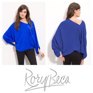 "NWT ""Cannes"" Asymmetric Top in Royal Blue"