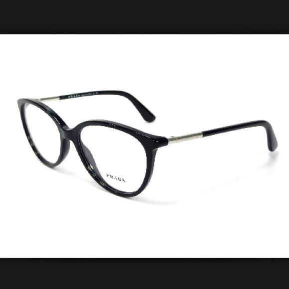 7b5c3bfcdfe    SALE   Prada Black plastic eyeglass frames 51mm