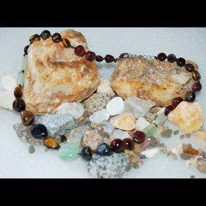 handmade & handcrafted gemstone jewelry Jewelry - ✂️SALE✂️Natural Jade & Tigers Eye Necklace