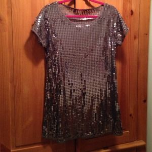 Lux Dresses - Silver sequin dress